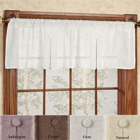 shannon semi sheer box pleated window valance - Box Window Valance