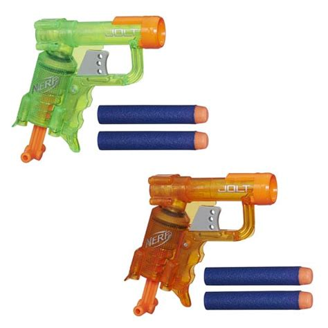 Nerf Jolt Blaster nerf n strike jolt blaster wave 1 set green and orange