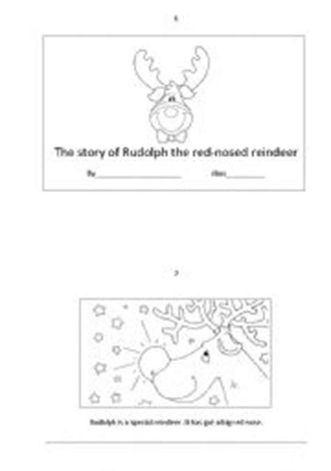 printable reindeer story the story of rudolph the red nosed reindeer booklet