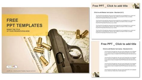 powerpoint templates army free download gun and group of bullets powerpoint templates