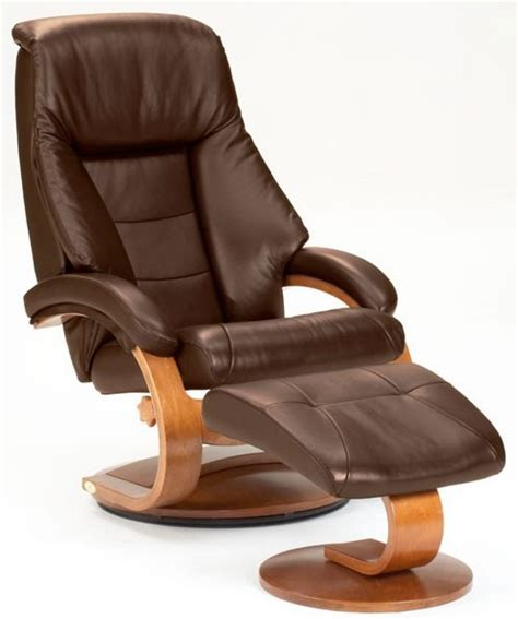 Top Recliner by Oslo Espresso Brown Top Grain Leather Swivel Recliner With