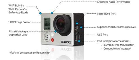 Amazon Com Gopro Hero3 Silver Edition Sports And