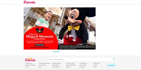 parents com magical moments sweepstakes - Parents Com Sweepstakes