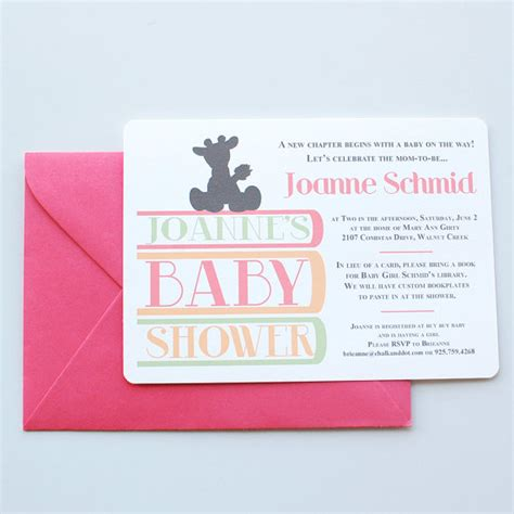 Books To Give At Baby Shower by Book Themed Baby Shower Invitations Ideas And More Baby