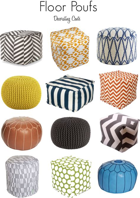 Floor Poof by Decorating Cents Floor Poufs