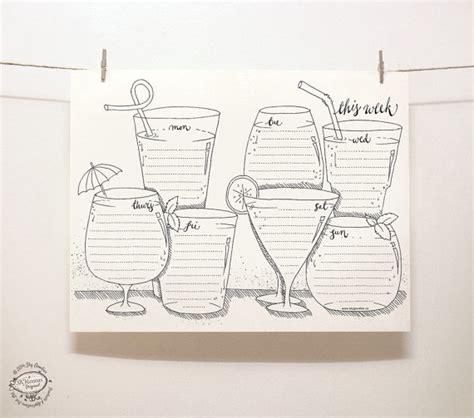 doodle organiser doodle perpetual weekly planner organizer drinks