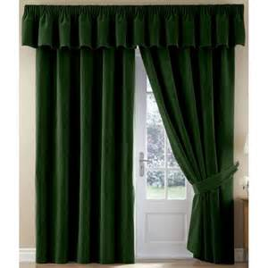 Thermal Velour Velvet Pencil Pleat Curtains Finished In Bottle Green » Home Design 2017