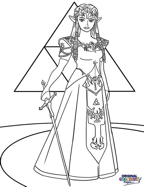 princess zelda coloring page princess zelda coloring pages to print coloring4free