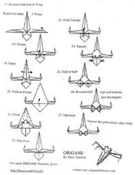 How To Make A Paper X Wing Fighter - extremegami how to make a origami x wing