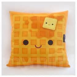 decorative pillow waffle pillow breakfast food kawaii