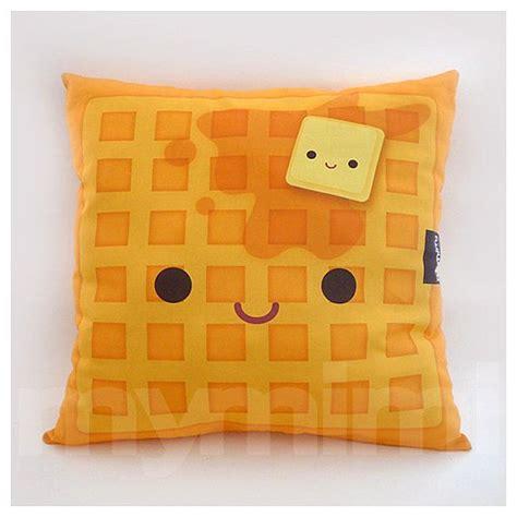 decorative pillow waffle pillow breakfast food kawaii