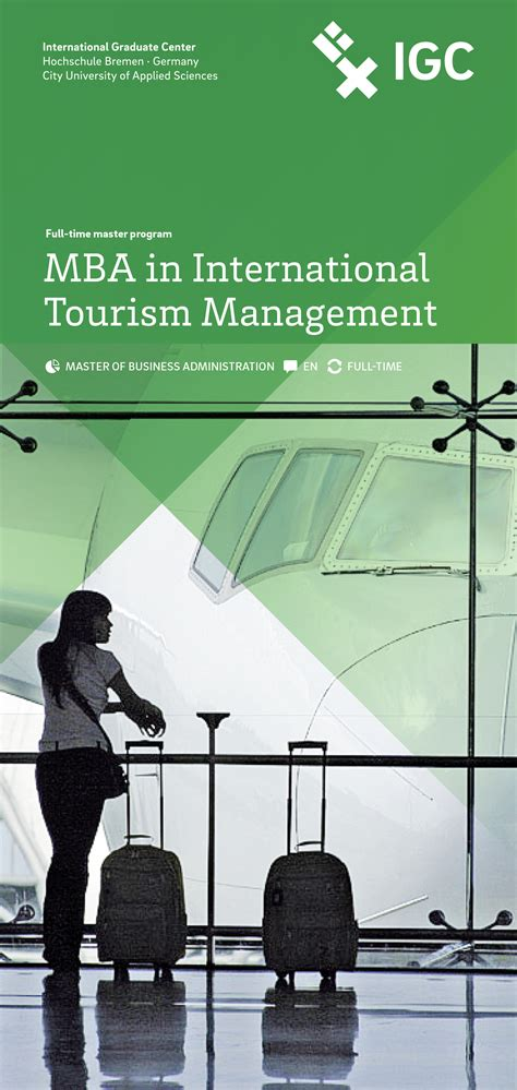 Mba International Tourism Management by Hochschule Bremen International Graduate Center