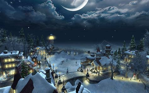 wallpaper christmas night christmas night wallpapers wallpaper cave