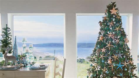 Nautical Themed Living Room by Coastal Christmas Trees Coastal Living