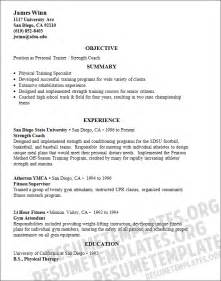 trainer resume template professionally written personal