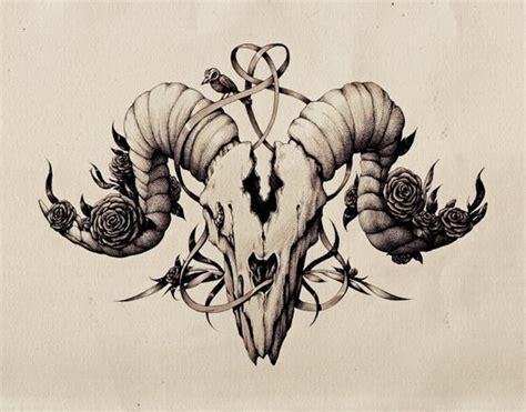 tattoo pen goats ink pen skull drawing by maria tiurina via behance