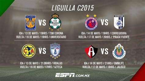 Calendario Dela Liga Mx Liguilla 2015 Resultados Futbol Mexicano 2015