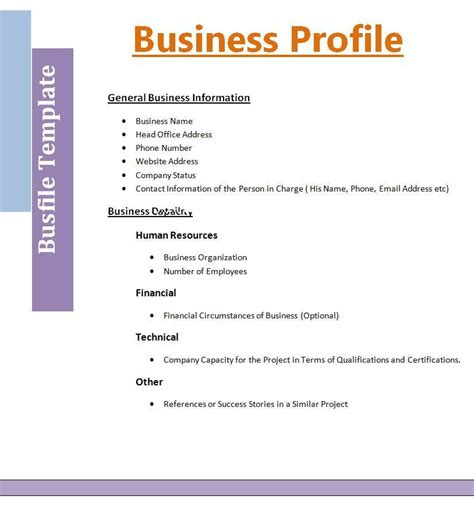 2 Best Business Profile Templates Free Word Templates Business Template Word Doc