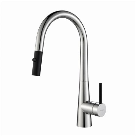 pull faucet kraus crespo single handle pull kitchen faucet with dual function sprayer in chrome kpf