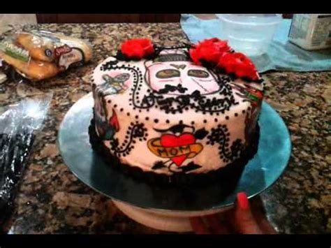 tattoo gun birthday cake old school tattoo birthday cake youtube