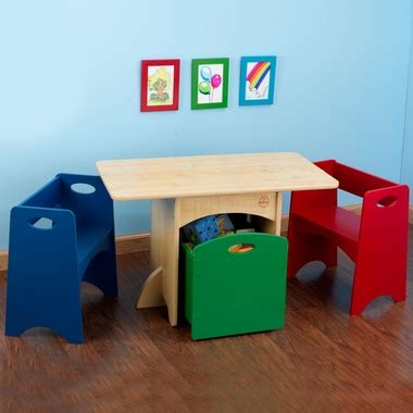 kidkraft table with primary benches 26161 kidkraft