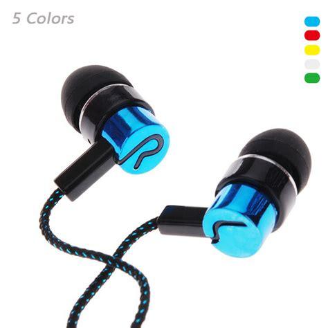 Plv Stereo In Ear Noise Isolating Earphone Fiber Cloth Line Blue Biru 3 5mm in ear wired stereo earphone noise isolating