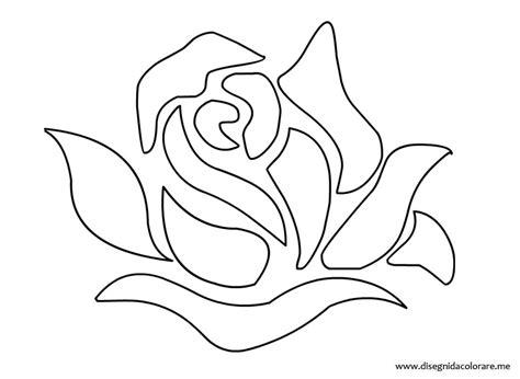 disegni fiori stilizzati da colorare rosa stencil disegni da colorare