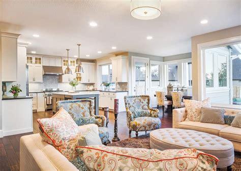 open concept kitchen living room  dining room floor