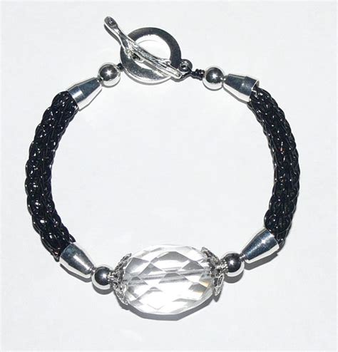 Viking Knit Bracelet Kit and tutorial BLACK artistic wire