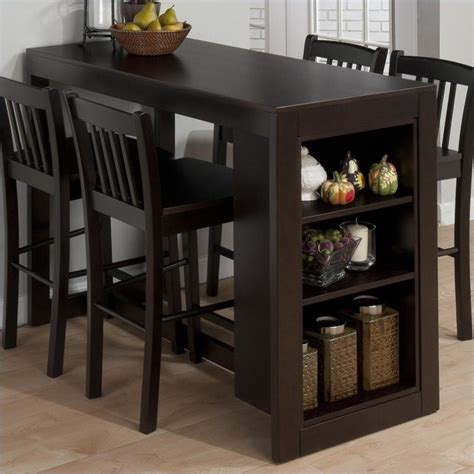 Vegas Storage Bar Table Jofran Counter Height Table With Storage In Maryland Merlot 810 48