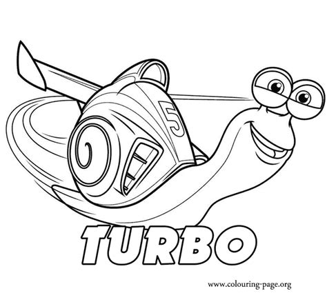 Printable Turbo Coloring Page | turbo turbo coloring page