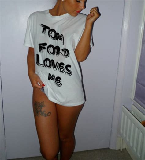 Tom Ford T Shirt by T Shirt Tom Ford Tom Ford White Black Fashion White