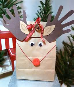 diy rudolph quot hand quot made holiday gift bags