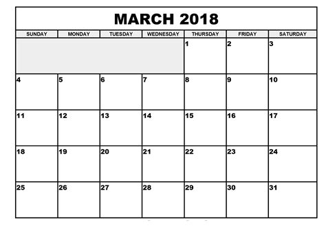 printable calendar for march 2018 free march 2018 printable calendar download download