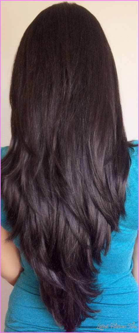 my hair is straight in the back layered haircuts for long straight hair back view