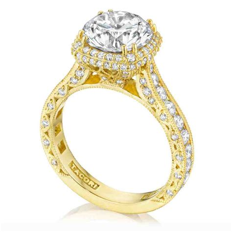 tacori yellow gold engagement rings wedding and bridal