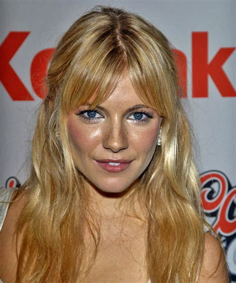Sienna Miller Half Up Long Curly Casual Half Up Hairstyle