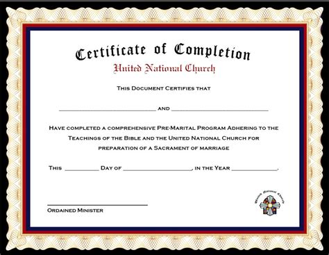 marriage counseling certificate of completion template pack of 4 marriage counseling completion certificates