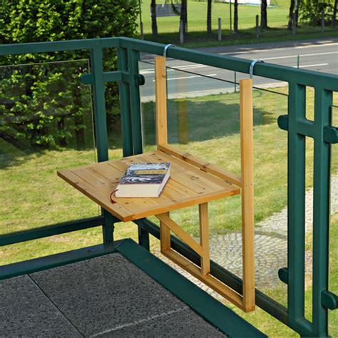 Hanging Patio Table Wooden Balcony Outdoor Terrace Porch Patio Rail Hang Folding Table Ebay