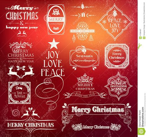 printable decorative note cards christmas vintage label set stock vector image 47286497