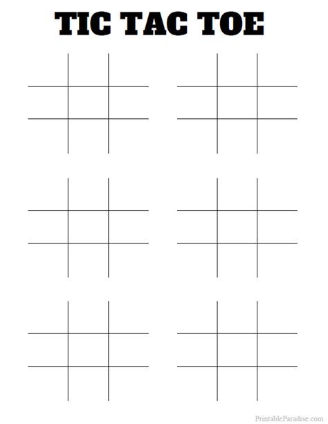 17 multiplication print outs printable tic tac toe