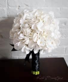 hydrangea bouquet white hydrangea wedding bouquet white and black hydrangea