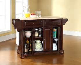 Kitchen Furniture Sale Crosley Furniture Alexandria Natural Wood Top Kitchen