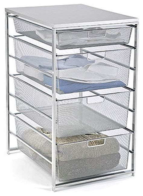 Closet Storage Shelves And Drawers Platinum Elfa Mesh Closet Drawers Modern Closet