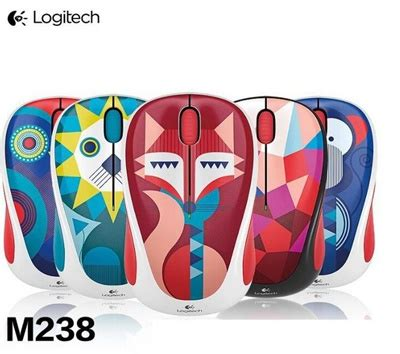 Mouse Wireless Logitech M238 Fox Limited buy logitech m238 wireless mouse limited edition 1 year battery grs resmi deals for only rp185