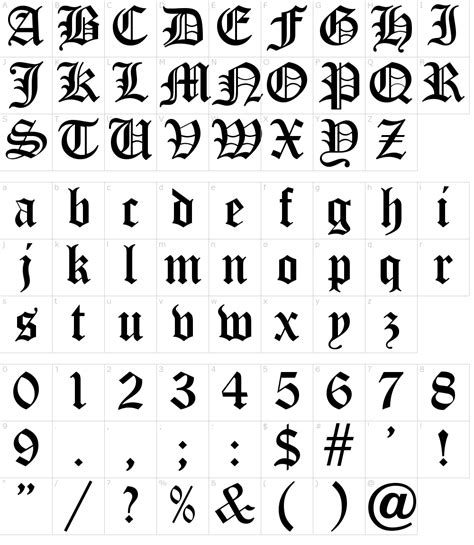 old english five font download