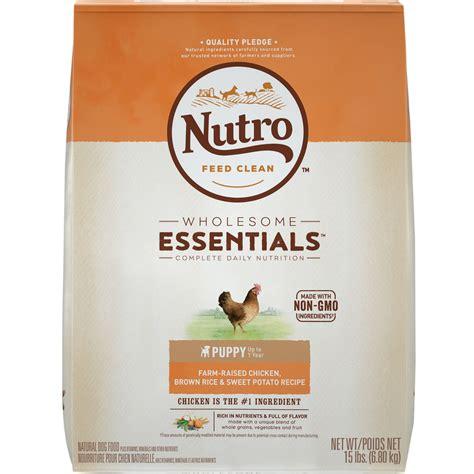 nutro puppy food nutro wholesome essentials puppy chicken whole brown rice sweet potato recipe 15 lb