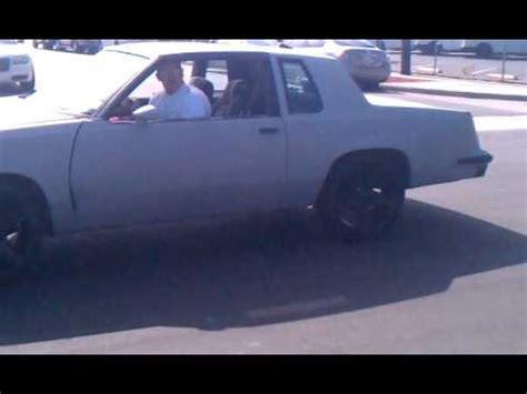 blacked out oldsmobile cutlass on 24 irocs 442 on 22 quot irocs burnout