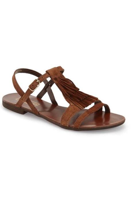 Topshops Bronze Leather Asymmetric Summer Sandal by Flat Fringe Sandals On Trend For Summer