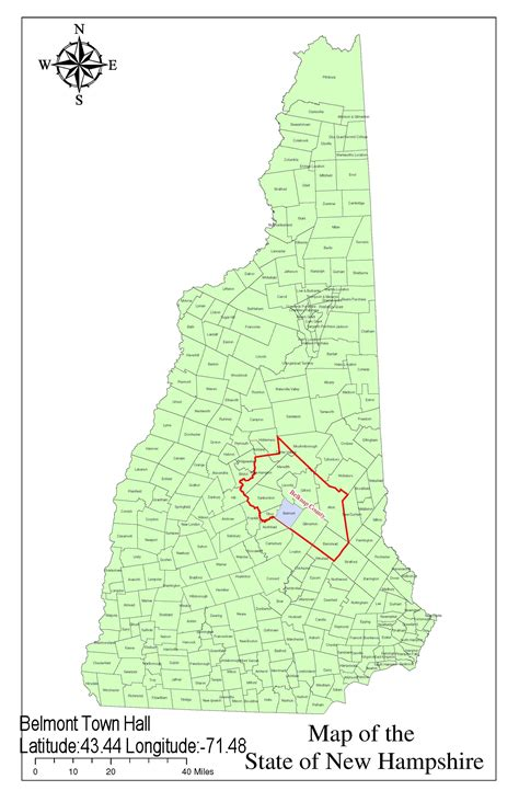 map of southern nh transportation in belknap county new hshire